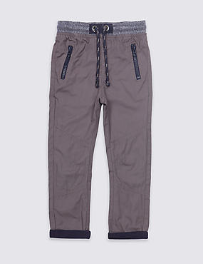 Pure Cotton Ripstop Trousers (3 Months - 7 Years)