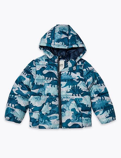 Dinosaur Print Padded Coat (3 Months - 7 Years)