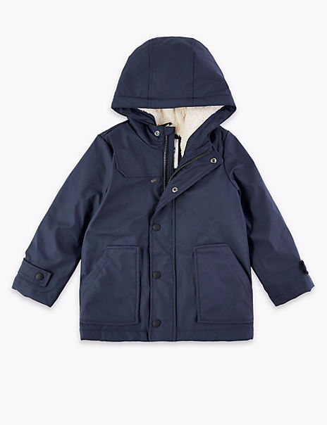 Borg Lined Fisherman Coat (3 Months - 7 Years)