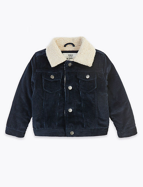 Pure Cotton Cord Jacket (3 Months - 7 Years)