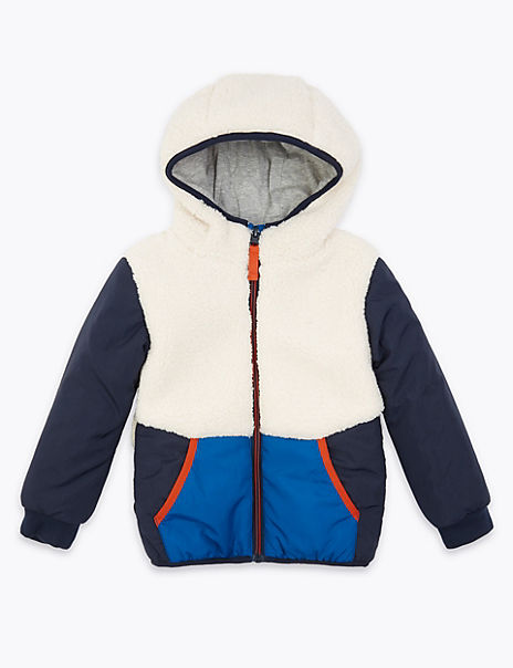 Borg Hooded Coat (3 Months - 7 Years)