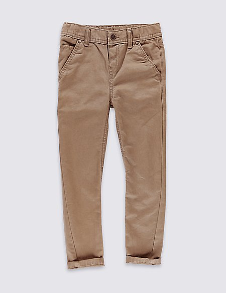 Pure Cotton Canvas Trousers (1-7 Years)