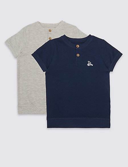 2 Pack Short Sleeve Tops (3 Months - 7 Years)
