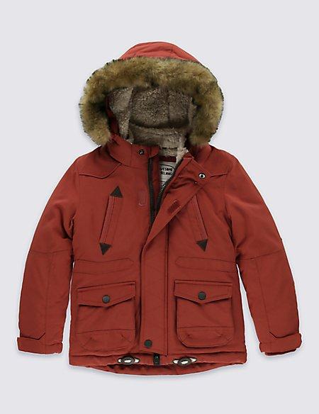 Faux Fur Hooded Parka Jacket (1-7 Years)