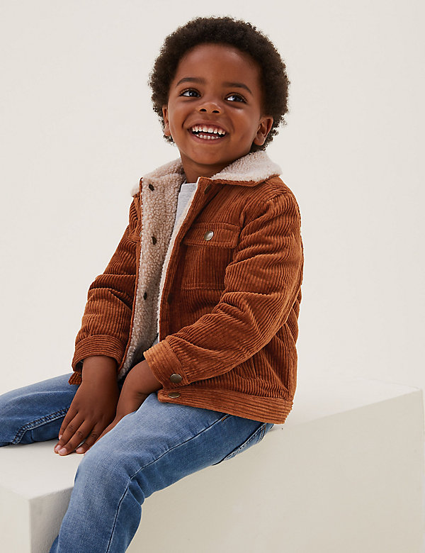 Cotton Borg Lined Cord Shacket (2-7 Yrs)