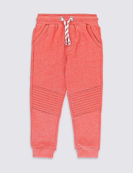 Cotton Rich Ripstop Quilted Knee Joggers (1-7 Years)