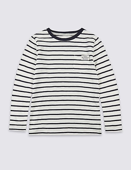 Pure Cotton Striped Top (3 Months - 5 Years)