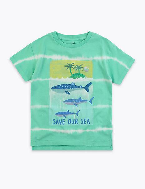 Cotton Whale Tie Dye T-Shirt (2-7 Years)