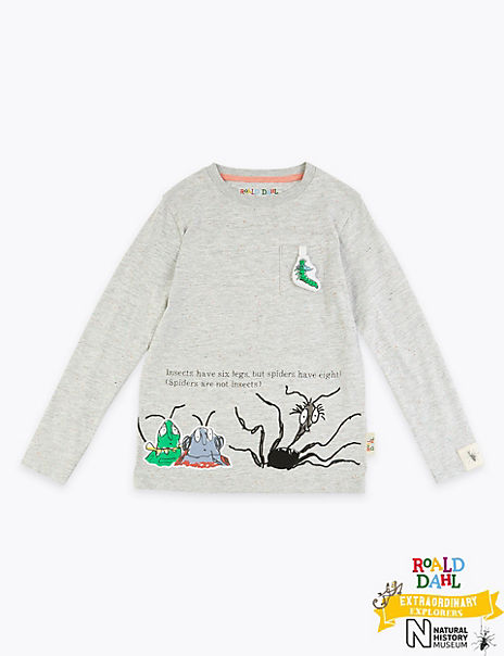 Roald Dahl™ & NHM™ Spider T-Shirt (2-7 Years)