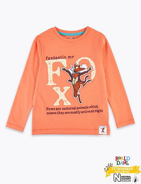Roald Dahl™ & NHM™ Fox Top (2-7 Years)