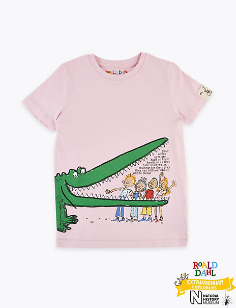 Roald Dahl™ & NHM™ Crocodile T-Shirt (2-7 Years)