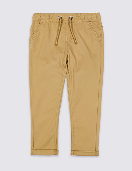 Cotton Trousers with Stretch (3 Months - 7 Years)
