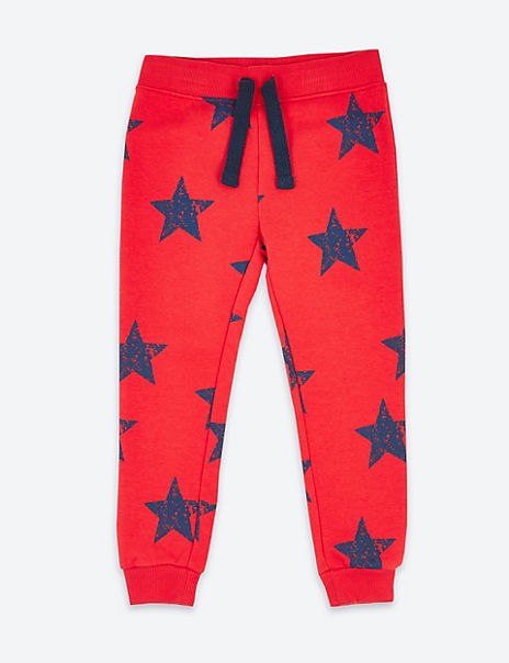 Cotton Star Print Joggers (3 Months - 7 Years)