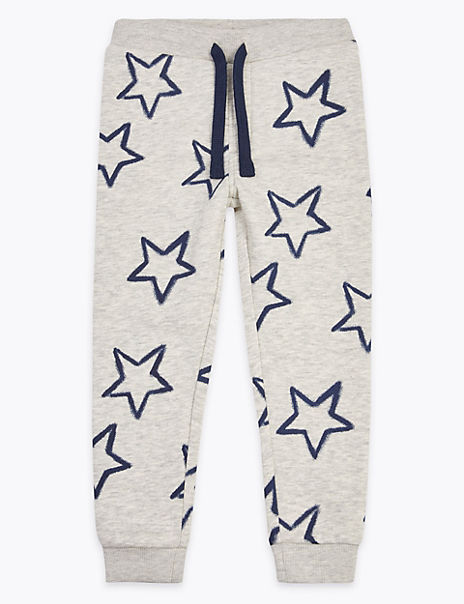 Cotton Rich Star Print Joggers (2-7 Years)