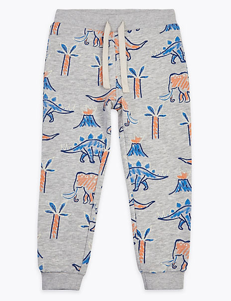 Dinosaur & Palm Patterned Joggers (2-7 Years)
