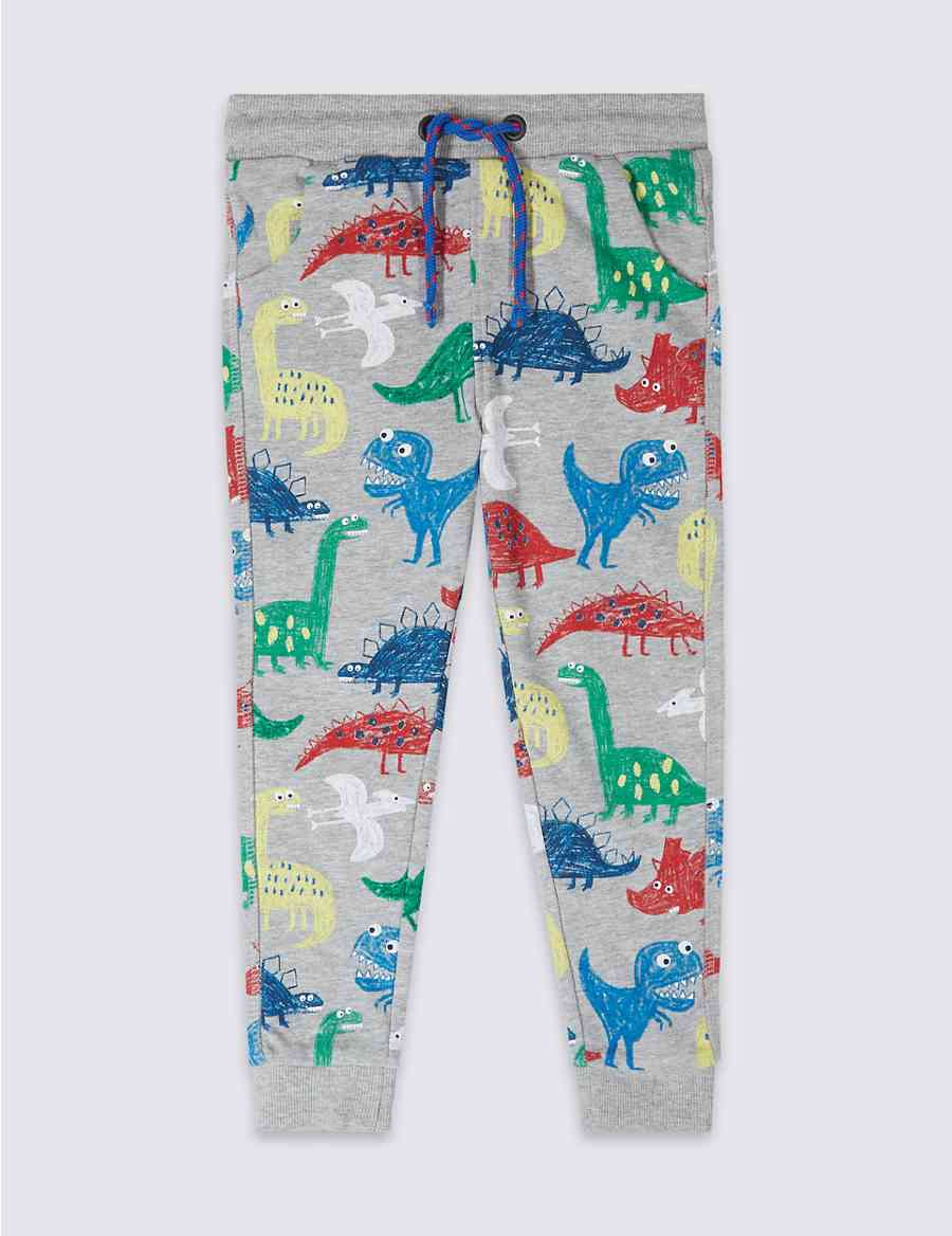 09cfedd3e929 Cotton Rich Dinosaur Print Joggers (3 Months - 7 Years)