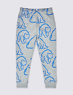 Cotton Rich Bear Joggers (3 Months - 7 Years)