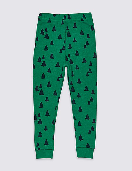 Cotton Rich Printed Joggers (3 Months - 7 Years)