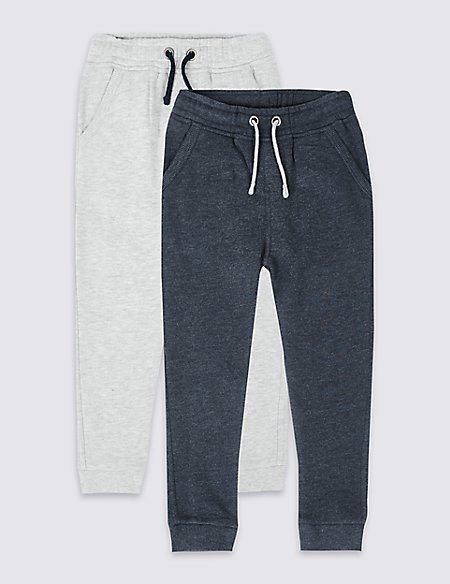 2 Pack Cotton Rich Joggers (3 Months - 7 Years)