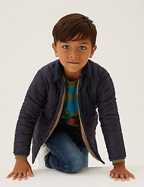 Borg Quilted Reversible Jacket (2-7 Yrs)