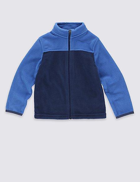 Zipped Through Neck Fleece Top (18 Months - 7 Years)