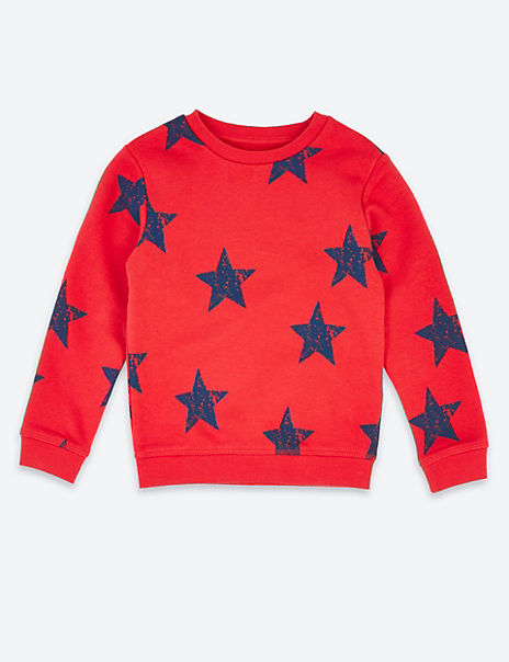 Star Print Sweatshirt (3 Months - 7 Years)