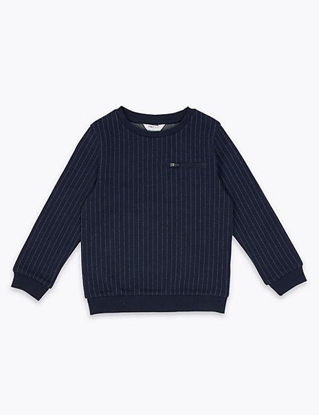 Pinstripe Sweatshirt (3 Months - 7 Years)