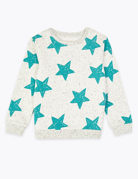 Star Print Sweatshirt (3 Months - 7 Years)