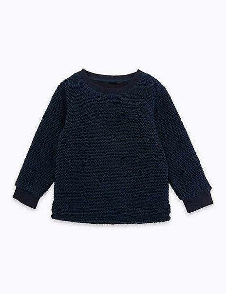 Textured Pocket Sweatshirt (3 Months - 7 Years)