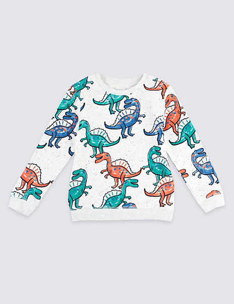 All Over Dinosaurs Print Sweatshirt (3 Months - 7 Years)