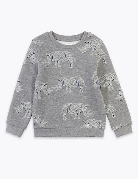 Rhino Print Sweatshirt (2-7 Years)