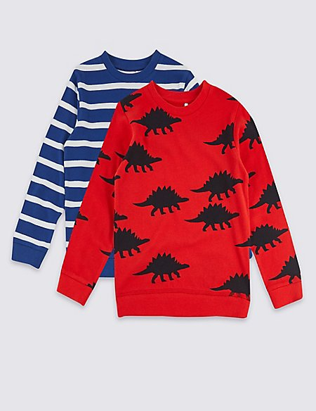 2 Pack Pure Cotton Sweatshirt (3 Months - 7 Years)