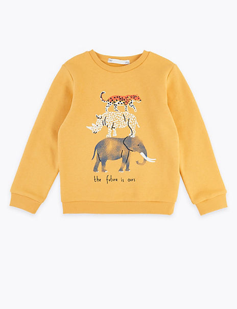 Animal Stack Sweatshirt (2-7 Years)