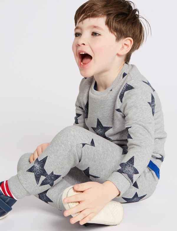 c71d2eed All Over Star Print Sweatshirt (3 Months - 7 Years)