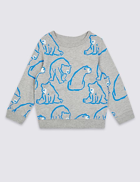 Cotton Rich Bear Sweatshirt (3 Months - 7 Years)