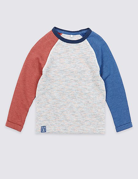 Cotton Rich Striped Sweatshirt (3 Months - 7 Years)