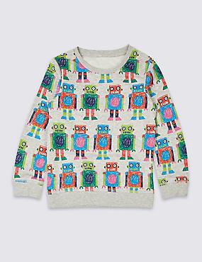Cotton Rich Printed Sweatshirt (3 Months - 7 Years)