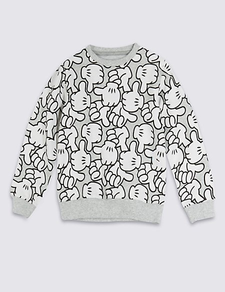 Pure Cotton Mickey Mouse Sweat Top (1-7 Years)
