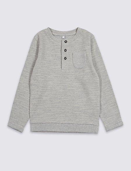Cotton Rich Textured Sweatshirt (3 Months - 7 Years)