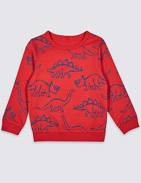 Pure Cotton Printed Sweatshirt (3 Months - 7 Years)