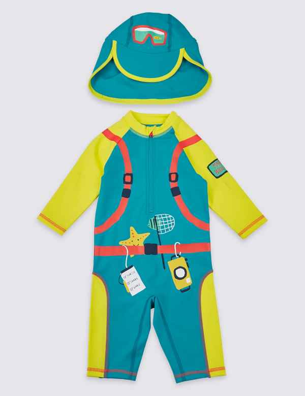 c5f33e4c22 Scuba Diver Suit Swimsuit Set (3 Months - 7 Years)