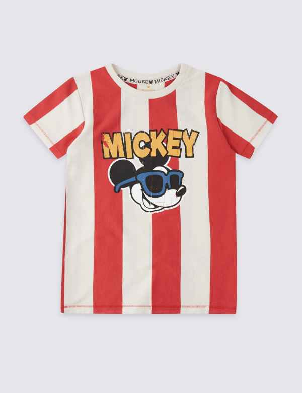 d78e4f31ac04 Mickey Mouse™ Pure Cotton T-Shirt (3 Months - 7 Years)