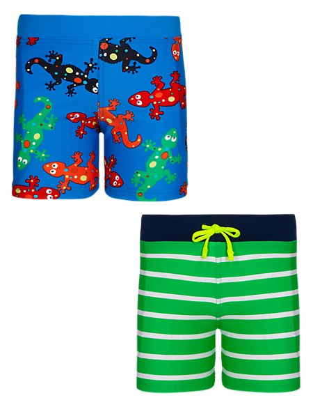 2 Pack of Assorted Swim Shorts (1-7 Years)