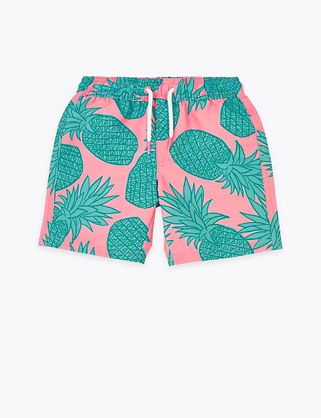 Pineapple Print Swim Shorts (2-7 Years)