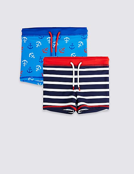 2 Pack Swim Trunks (3 Months - 7 Years)