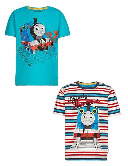 2 Pack Pure Cotton Thomas & Friends™ T-Shirts