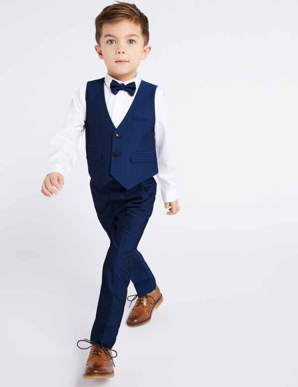 e33fb10b10d 4 Piece Suit Outfit (3 Months - 7 Years)