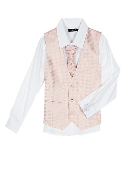 3 Piece Waistcoat, Shirt & Cravat Outfit (1-10 Years)