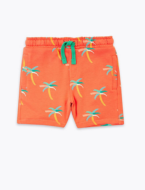 Regular Cotton Rich Palm Tree Shorts (2-7 Years)