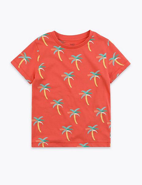 Cotton Palm Tree T-Shirt (2-7 Years)